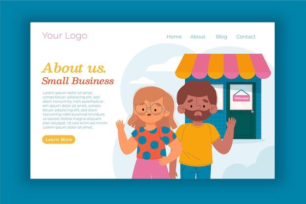 Strona docelowa małej firmy