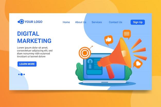 Strona docelowa marketing cyfrowy