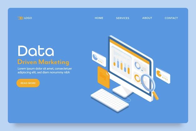 Strona docelowa marketingu danych