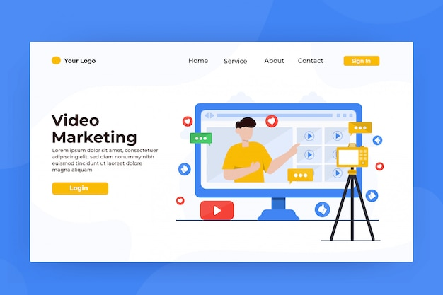 Strona docelowa marketingu internetowego