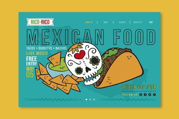 Strona docelowa meksykańskiego jedzenia