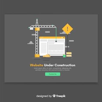 Strona docelowa mieszkania w budowie