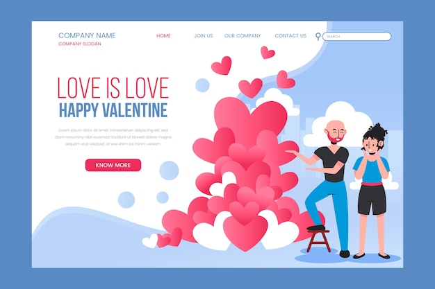 Strona docelowa miłość to miłość