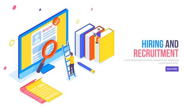 Strona docelowa na temat rekrutacji lub zatrudnienia.