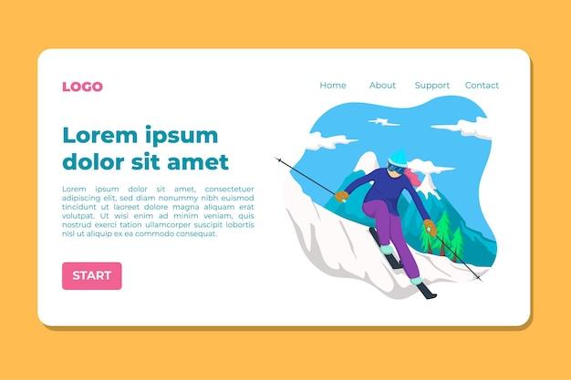 Strona docelowa nart dla kobiet