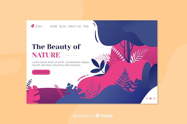 Strona docelowa natury z liśćmi