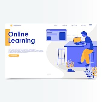 Strona Docelowa Nauki Online Premium Wektorów