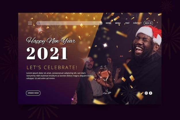 Strona docelowa nowego roku 2021