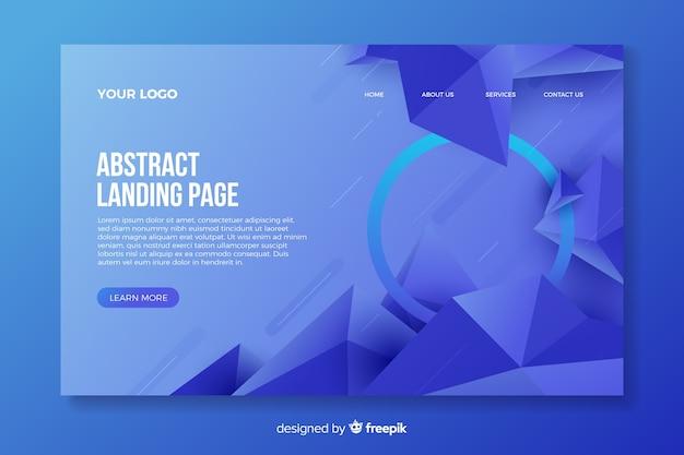 Strona docelowa o abstrakcyjnych kształtach