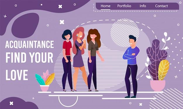 Strona docelowa oferująca usługę znajomości online