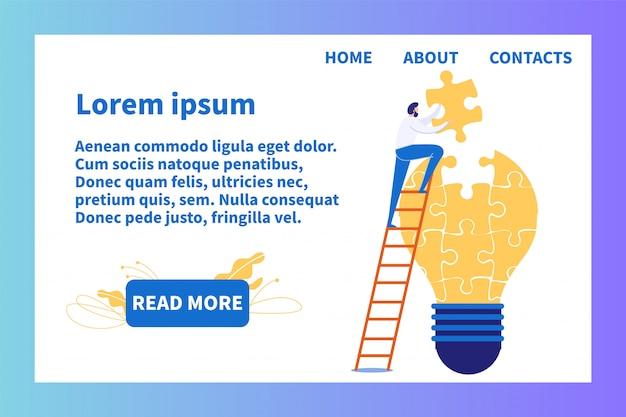 Strona docelowa oferuje skuteczny sposób na tworzenie pomysłów