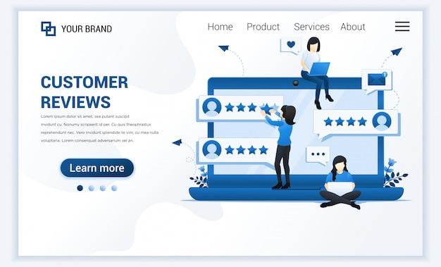 Strona docelowa opinii klientów