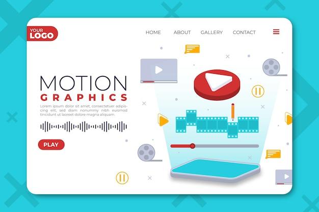 Strona docelowa organicznych płaskich motiongraphics