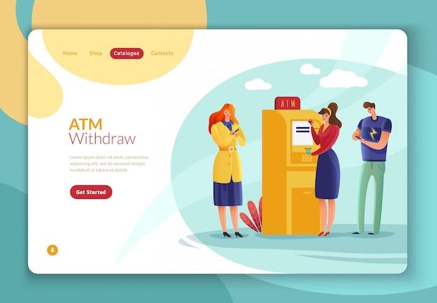 Strona docelowa osób obsługujących płatności w bankomatach.