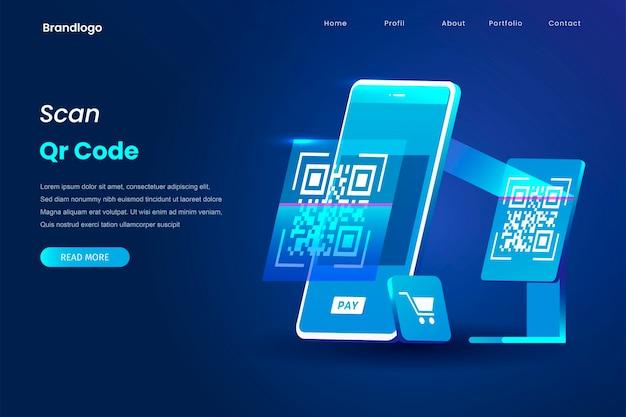 Strona docelowa płatności za pomocą kodu qr