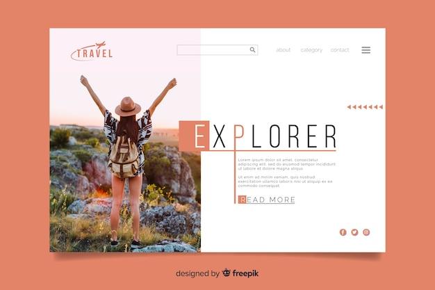 Strona docelowa podróży explorer