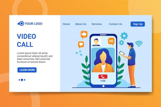 Strona docelowa połączenia wideo