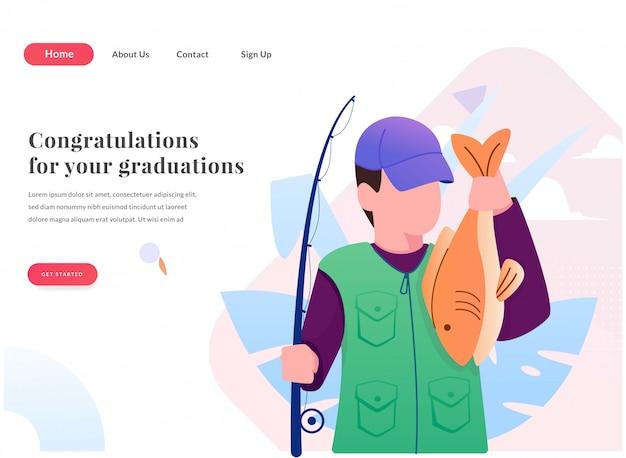 Strona docelowa połowów z ilustracją