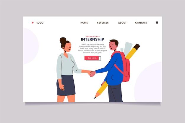 Strona docelowa pracy na staż