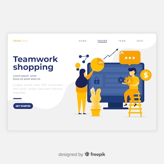Strona docelowa pracy zespołowej