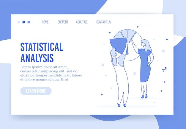 Strona docelowa profesjonalnej analizy statystycznej