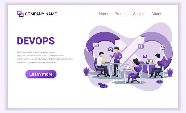 Strona docelowa programistów w pracy.