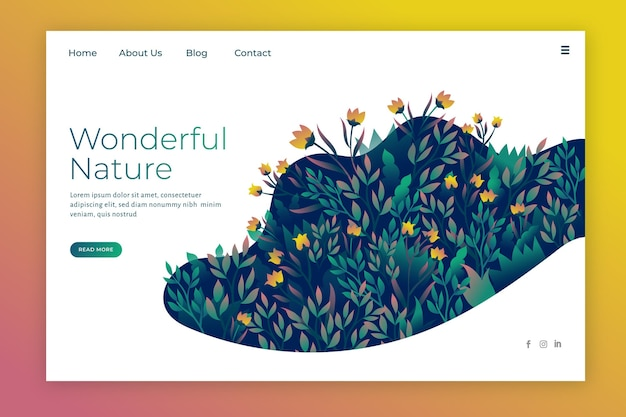 Strona docelowa projektu natury