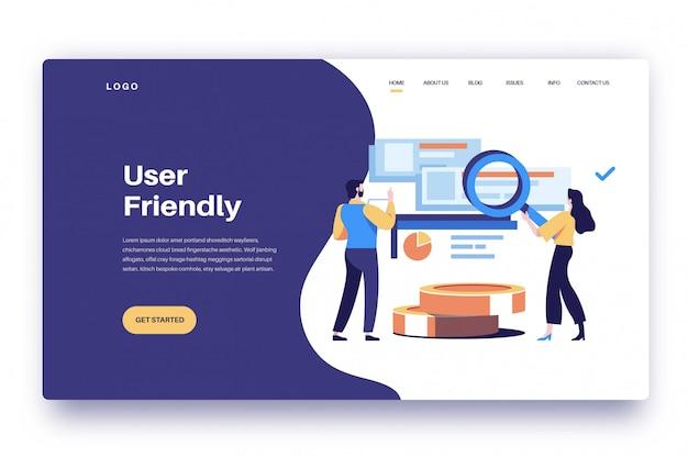 Strona docelowa przyjazna dla użytkownika