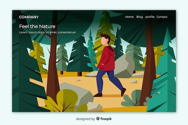 Strona docelowa przyrody z krajobrazem