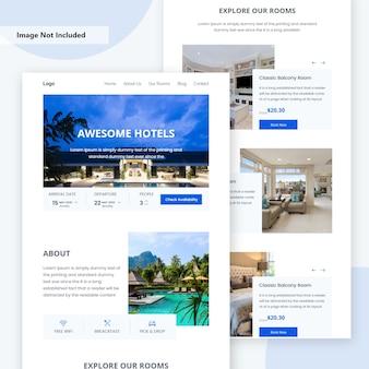 Strona docelowa rezerwacji hotelu online.