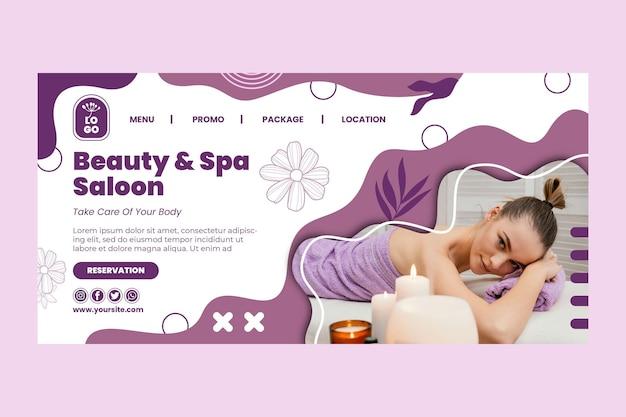 Strona docelowa rezerwacji salonu piękności