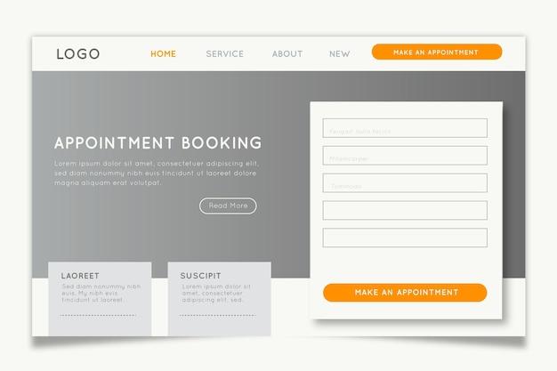 Strona docelowa rezerwacji terminu