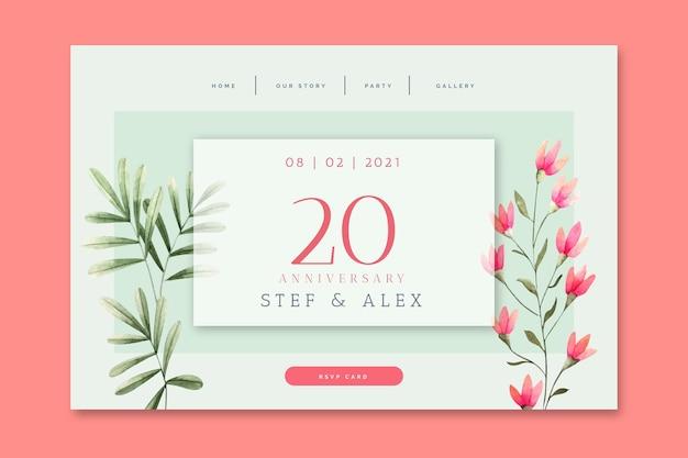 Strona docelowa rocznicy ślubu