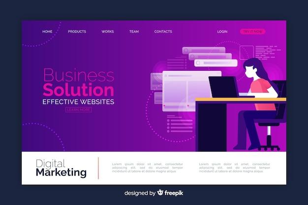 Strona docelowa rozwiązania biznesowego