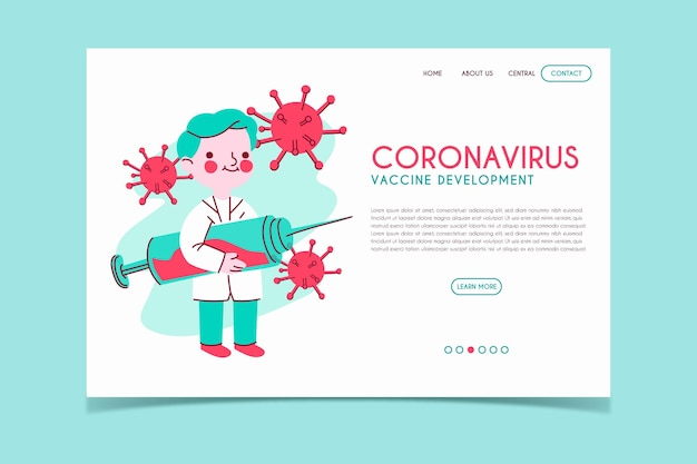 Strona docelowa rozwoju szczepionki koronawirusowej