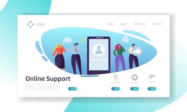 Strona docelowa serwisu internetowego działu obsługi klienta