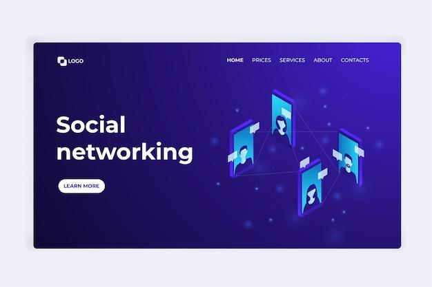 Strona docelowa sieci społecznościowej