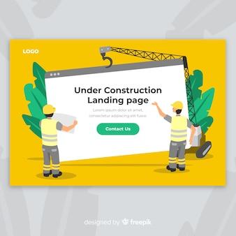 Strona docelowa sieci w budowie