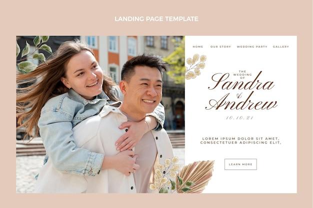 Strona docelowa ślubna akwarela boho