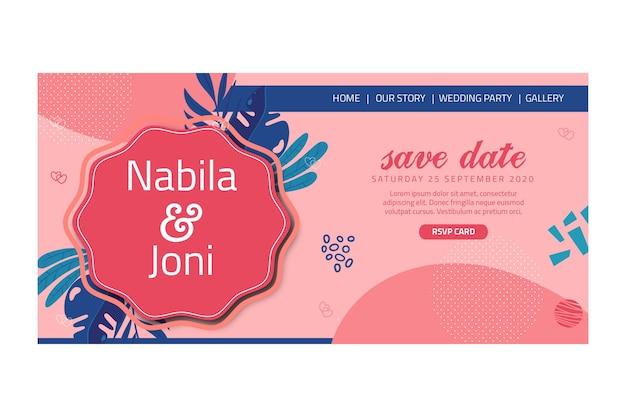 Strona docelowa ślubu kwiatowy