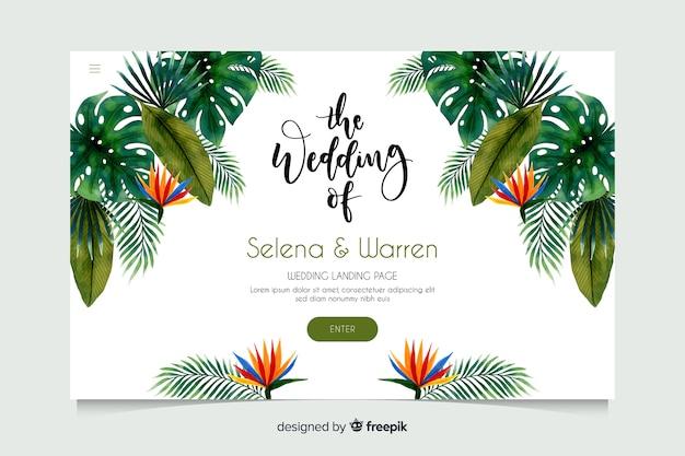 Strona docelowa ślubu