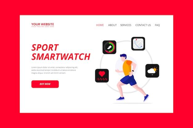Strona docelowa sportowego smartwatcha