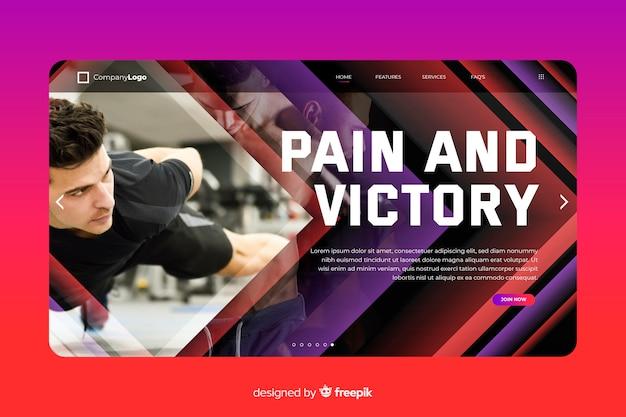 Strona docelowa sportu bólu i zwycięstwa