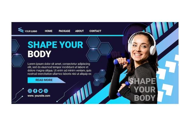 Strona docelowa sportu i technologii