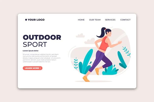 Strona docelowa sportu na świeżym powietrzu