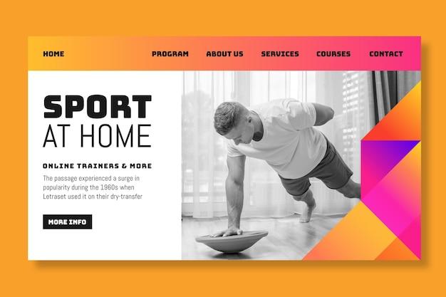 Strona docelowa sportu w domu
