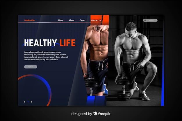 Strona docelowa sportu zdrowego stylu życia