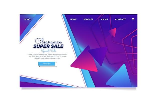 Strona docelowa sprzedaży gradientowej