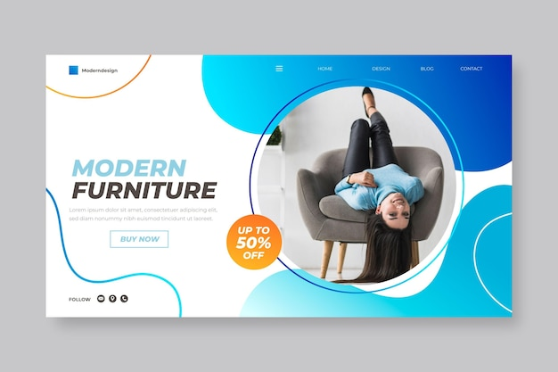 Strona docelowa sprzedaży mebli