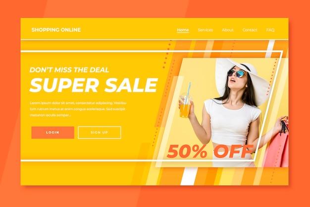 Strona docelowa sprzedaży modowej